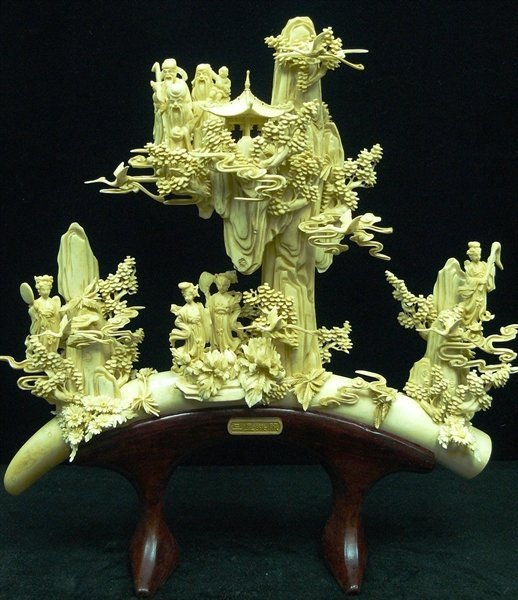 ANTIQUE BONE FAIRIES MOUNTAIN