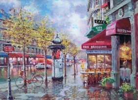 SAM PARK RAINY DAY IN PARIS HAND SIGNED LIMITED ED. SER