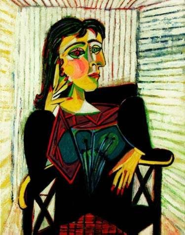 #57 PORTRAIT OF DORA MAAR SEATED PICASSO ESTATE SIGNED