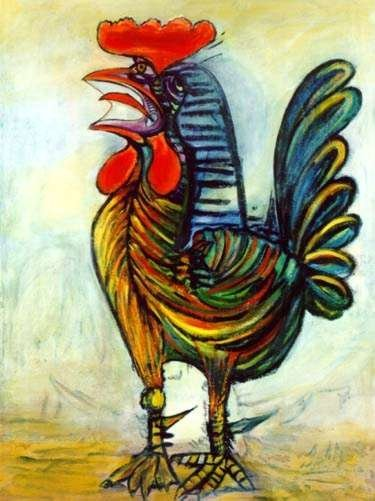 #49 THE ROOSTER PICASSO ESTATE SIGNED GICLÉE