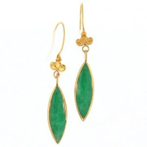 NATURAL GREEN JADE EARRINGS