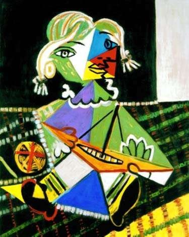 #71 MAYA WITH BOAT PICASSO ESTATE SIGNED GICLÉE