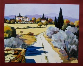 JOANNY VIEW OF MALAUCENE HAND SIGNED LIMITED ED. GICLEE