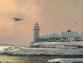 AFTERNOON DEPARTURE AT STONEY POINT LIGHT - BY WILLIAM