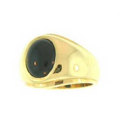 NATURAL BLACK JADE RING