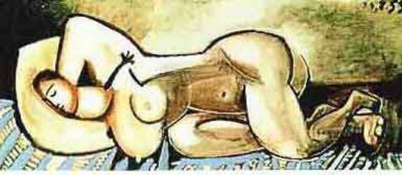 19T - #134 SLEEPING NUDE PICASSO ESTATE SIGNED GICLÉE