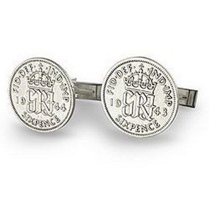 King George VI Sixpence Cufflinks