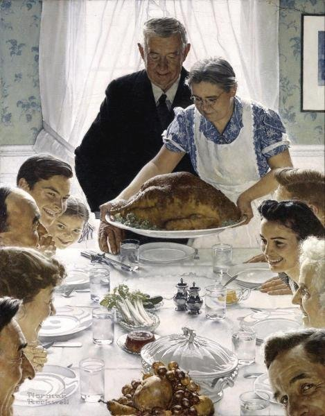 NORMAN ROCKWELL - FREEDOM FROM WANT