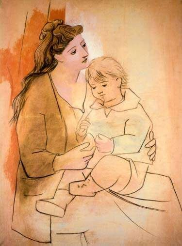 #086 MOTHER AND CHILD PICASSO ESTATE SIGNED GICLÉE