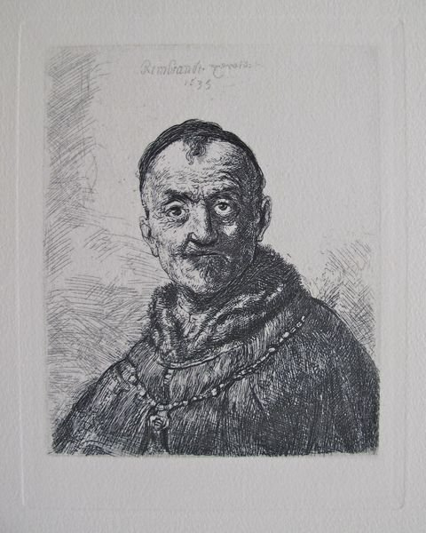 Rembrandt THE FIRST ORIENTAL HEAD Etching