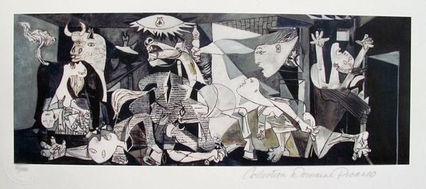 Pablo Picasso GUERNICA Estate Signed Limited Ed. Small