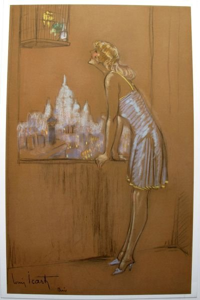 11T - LOUIS ICART YELLOW BIRD LIMITED ED. GICLEE