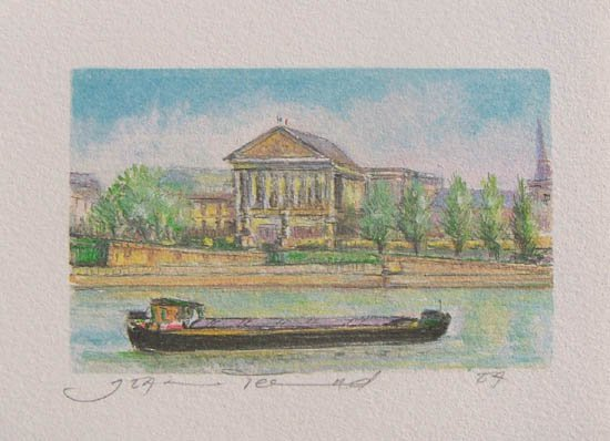 19T - JEAN FERNAND THE BARGE LIMITED ED. HAND SIGNED LI