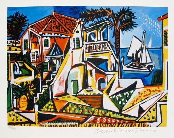 Pablo Picasso MEDITERRANEAN LANDSCAPE Estate Signed Lim