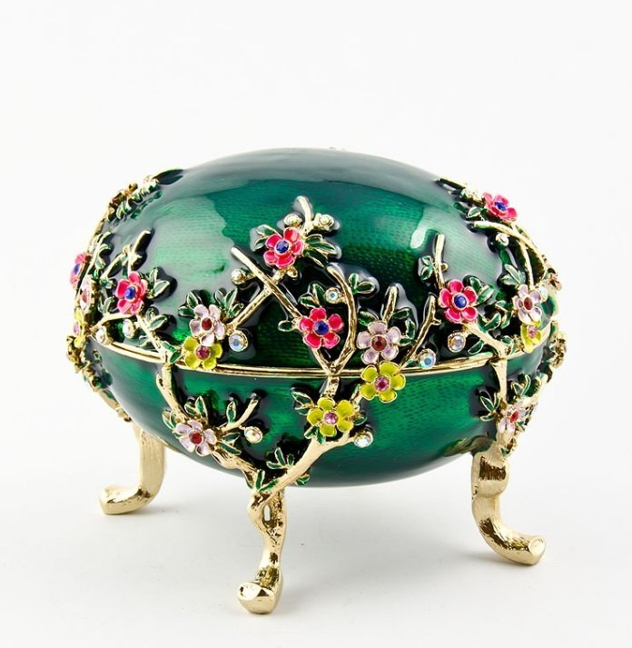 KELCH APPLE BLOSSOM FABERGE STYLE EGG