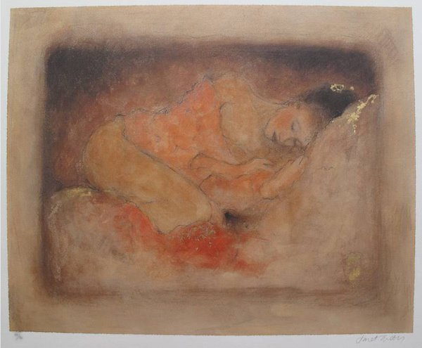 JANET TREBY TRANQUILITY HAND SIGNED LIMITED ED. SERIGRA