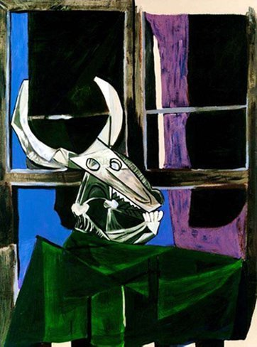 #29 STILL LIFE WITH STEER SKULL PICASSO ESTATE SIGNED G