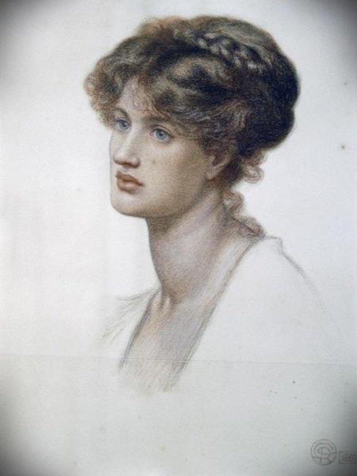DANTE GABRIEL ROSSETTI - PORTRAIT OF MRS. WILLIAM J. ST