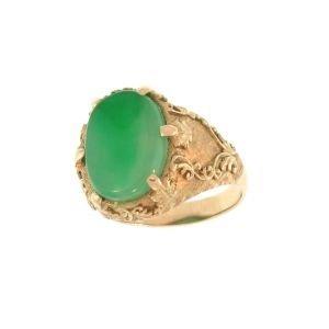 NATURAL GREEN JADE RING