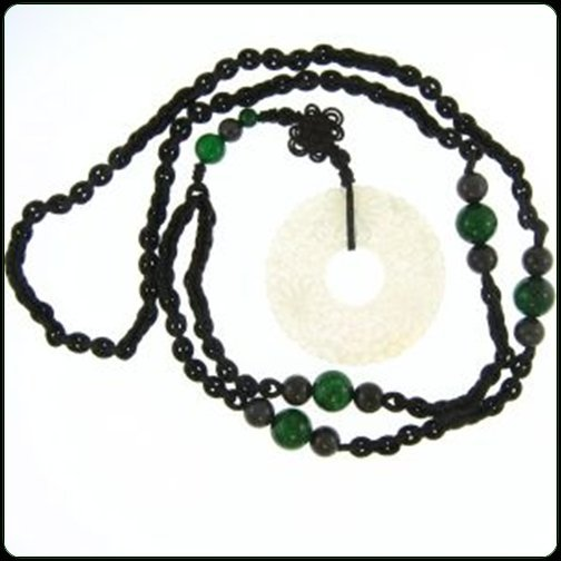 NATURAL ICE WATER JADE NECKLACE