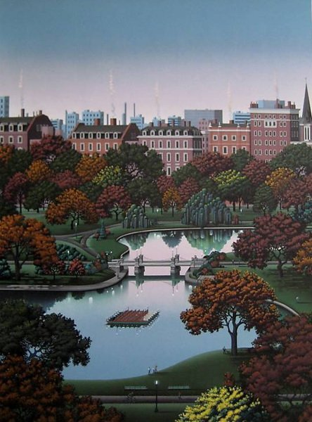 JIM BUCKELS BOSTON PUBLIC GARDEN HAND SIGNED LIMITED ED