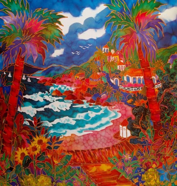 LINDA PIRRI A PERFECT DAY IN LAGUNA HAND SIGNED LIMITED