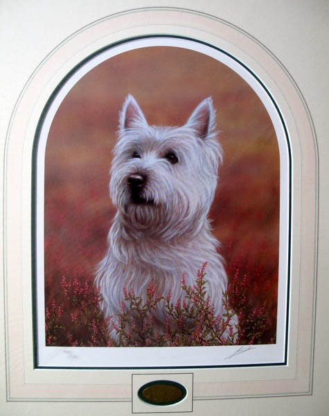 JOHN SILVER WEST HIGHLAND TERRIER LIMITED ED. HAND SIGN