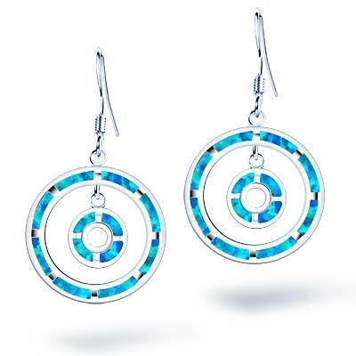 STERLING SILVER EARRINGS WITH OPALITE