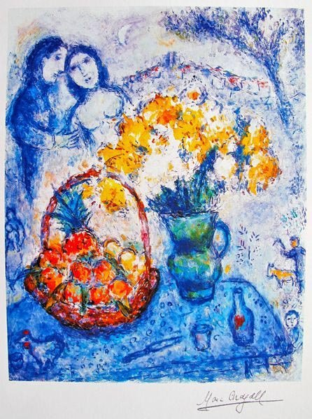 Marc Chagall YELLOW BOUQUET Limited Ed. Small Giclée