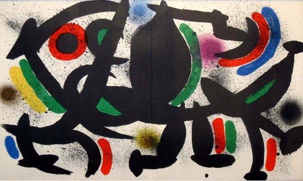 "Joan Miro 1972 ""VIII"" Original Lithograph"