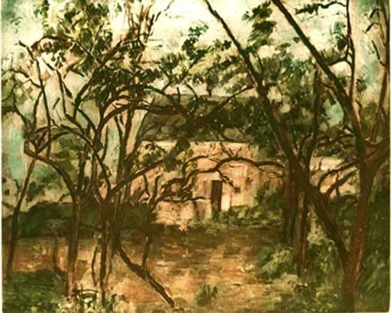 Paul Cezanne LA MAISON RUSTIQUE Ambroise Vollard Estate