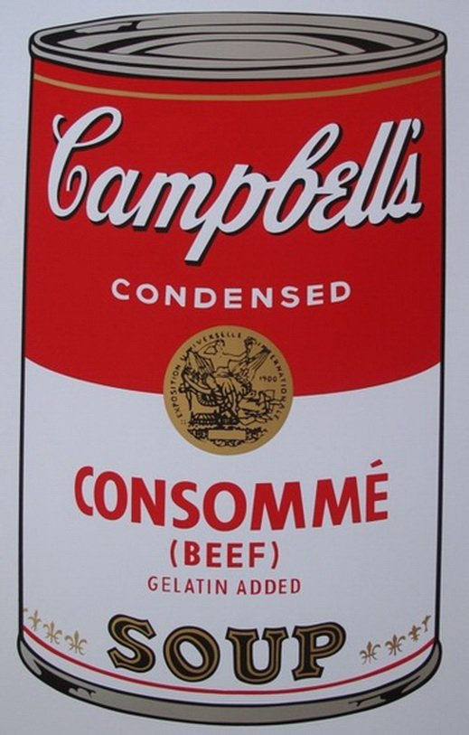 ANDY WARHOL - SUNDAY B. MORNING - CONSOMME SOUP CAN