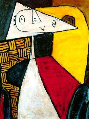 #55 SEATED WOMAN PICASSO ESTATE SIGNED GICLÉE
