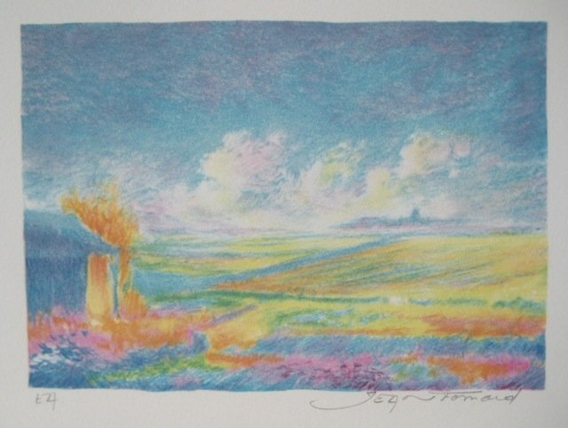 JEAN FERNAND SOLEIL LEVANT I HAND SIGNED LITHOGRAPH