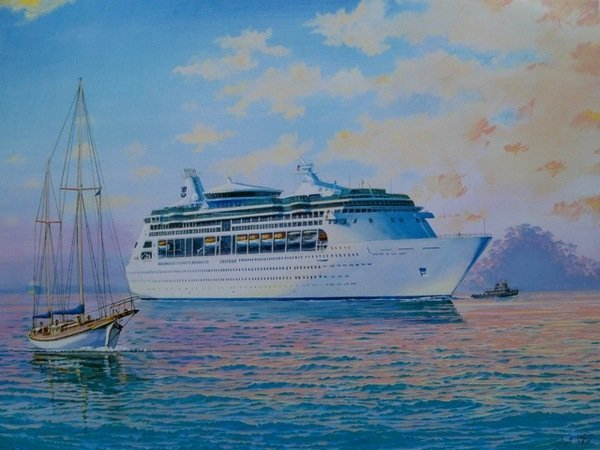 JAMES FLOOD VISION OF THE SEAS HAND SIGNED LIMITED ED.