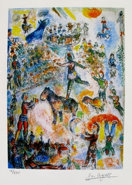 MARC CHAGALL CIRCUS GRAND LIMITED ED. SMALL GICLÉE