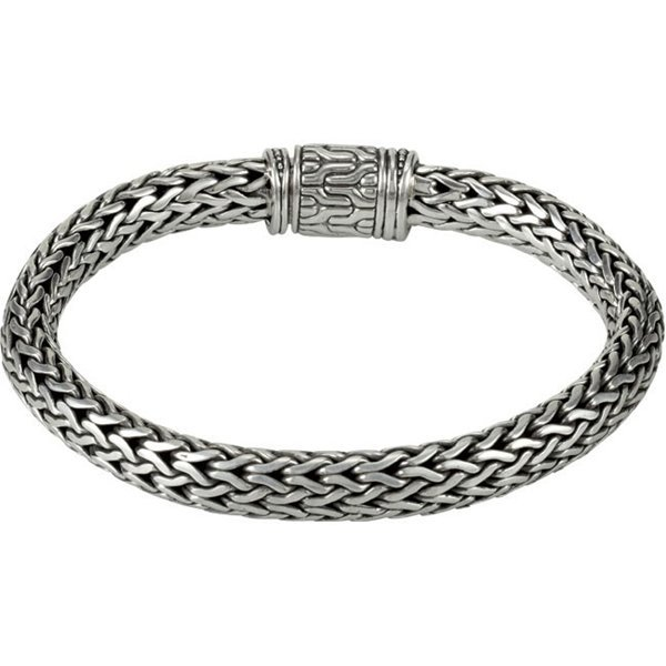 STERLING SILVER WHEAT BRACELET WITH 18KT ACCENTS
