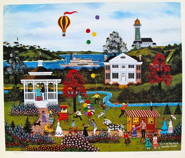 JANE WOOSTER SCOTT LARK IN THE PARK HAND SIGNED LIMITED