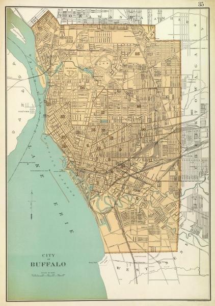 JOSEPH RUDOLF BIEN - BUFFALO, NEW YORK, 1895