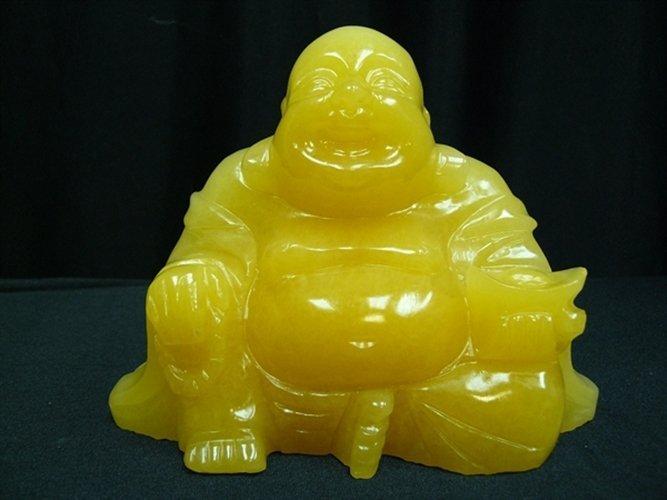 YELLOW JADE SITTING BUDDHA