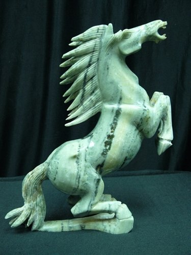 REAL JADE RUNNING HORSE