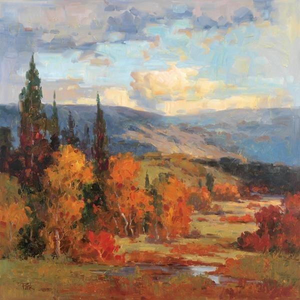 K PARK - AUTUMN MOUNTAINS - Giclée on Canvas