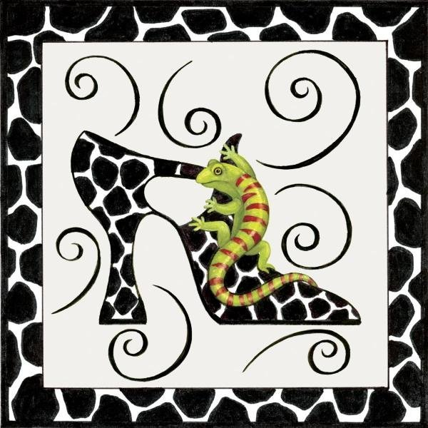 STEPHANIE STOUFFER - SHOE GECKO - Giclée on Canvas