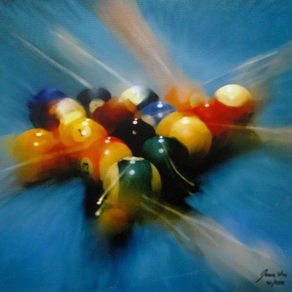 JAMES WING 8 BALL HAND SIGNED LIMITED ED. GICLEE ON