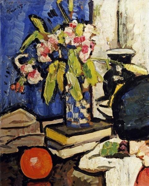 GEORGE LESLIE HUNTER - THE BLACK HAT - Giclée on Canvas