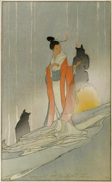 BERTHA LUM - THE FOX WOMAN, 1923 - Giclée on Canvas