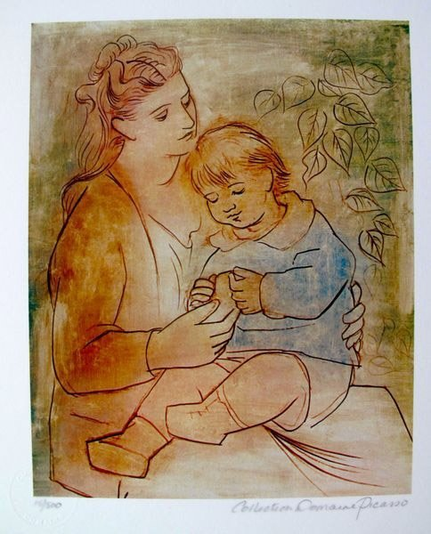 PABLO PICASSO MOTHER AND CHILD ESTATE SIGNED LIMITED