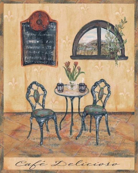 GRACE PULLEN - CAFE DELICIOSO - Giclée on Canvas