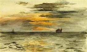 JOHN LA FARGE - SUNRISE OFF JAPAN - Giclée on Canvas