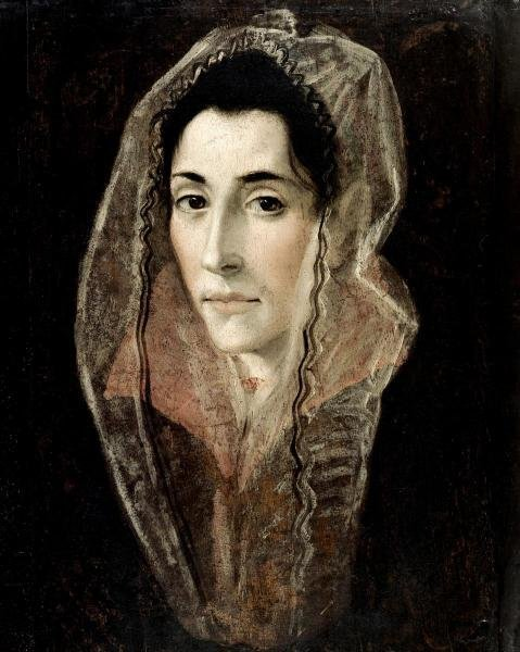EL GRECO - PORTRAIT OF A LADY - Giclée on Canvas